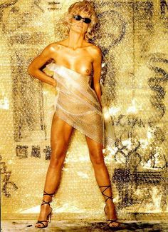gold playboy Farrah fawcett