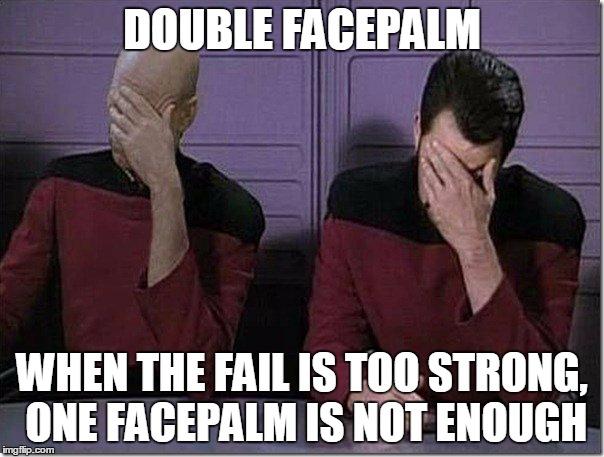 facepalm Star meme trek