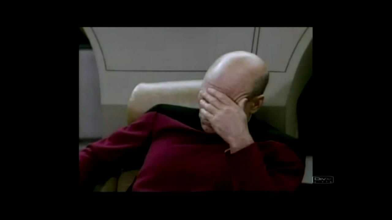 facepalm Star meme trek
