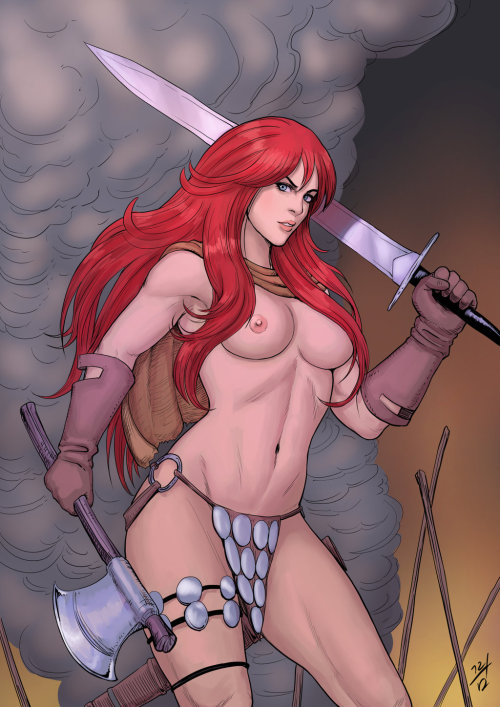 naked Red nude sonja