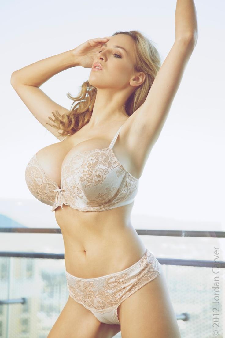 bra Big tits white