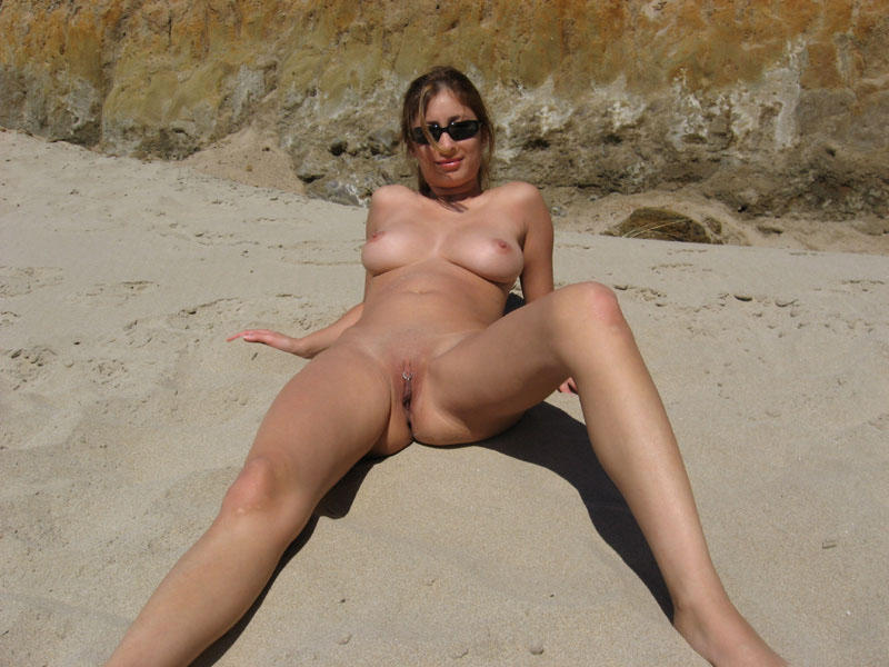 Wife a naked on beach