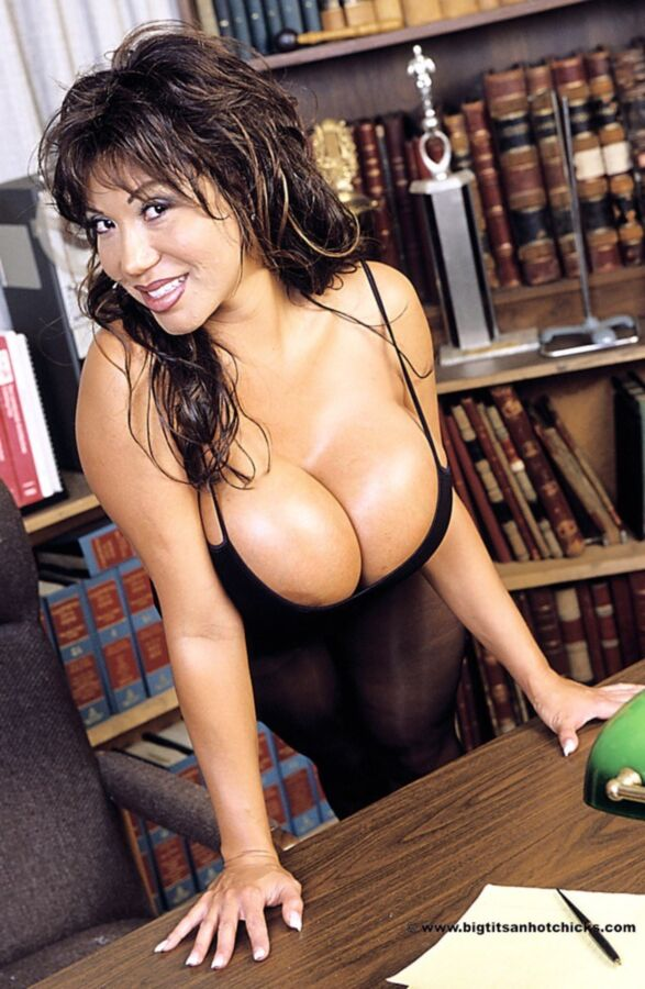 office Latina big tit