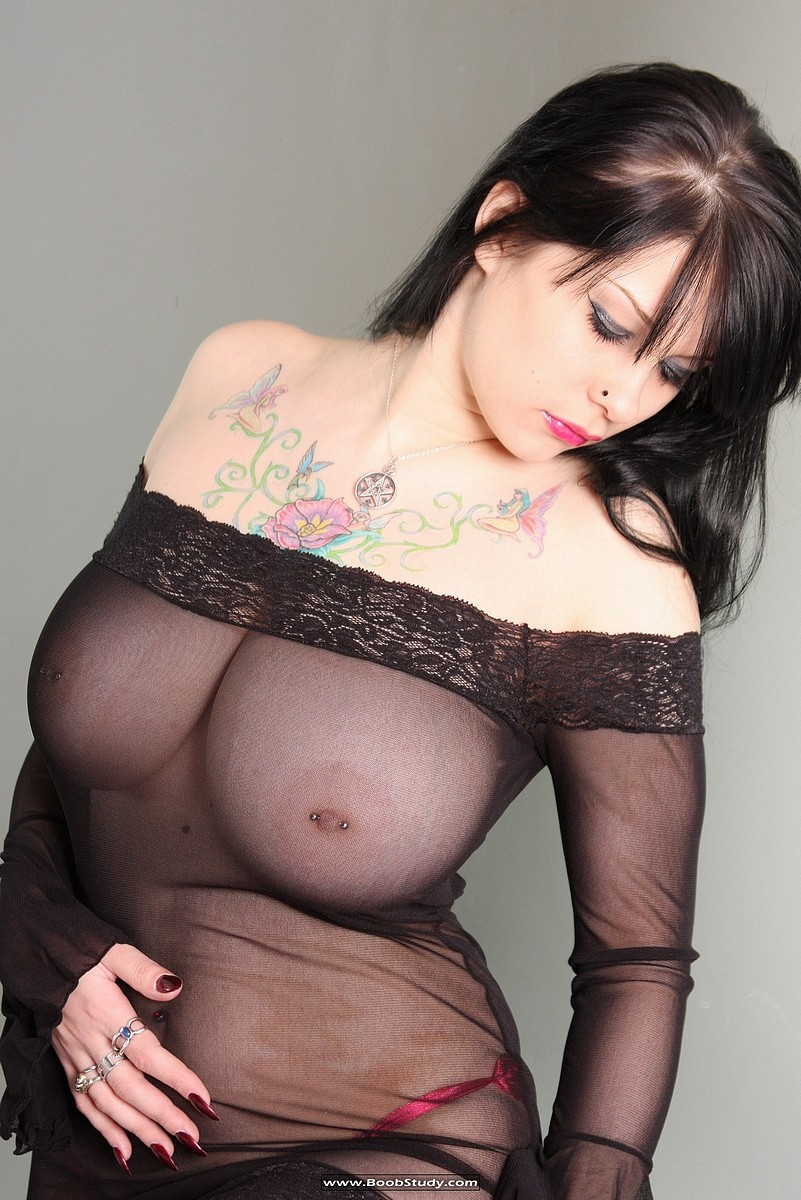 sheer bra tits Big