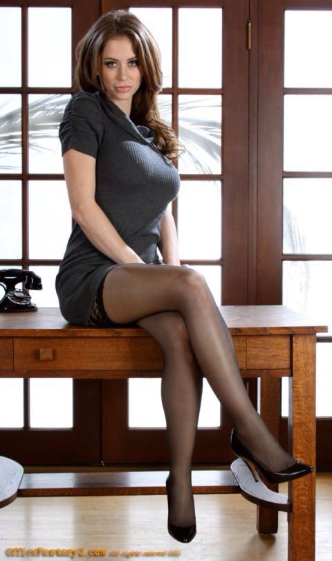 legs heels secretary Sexy stockings