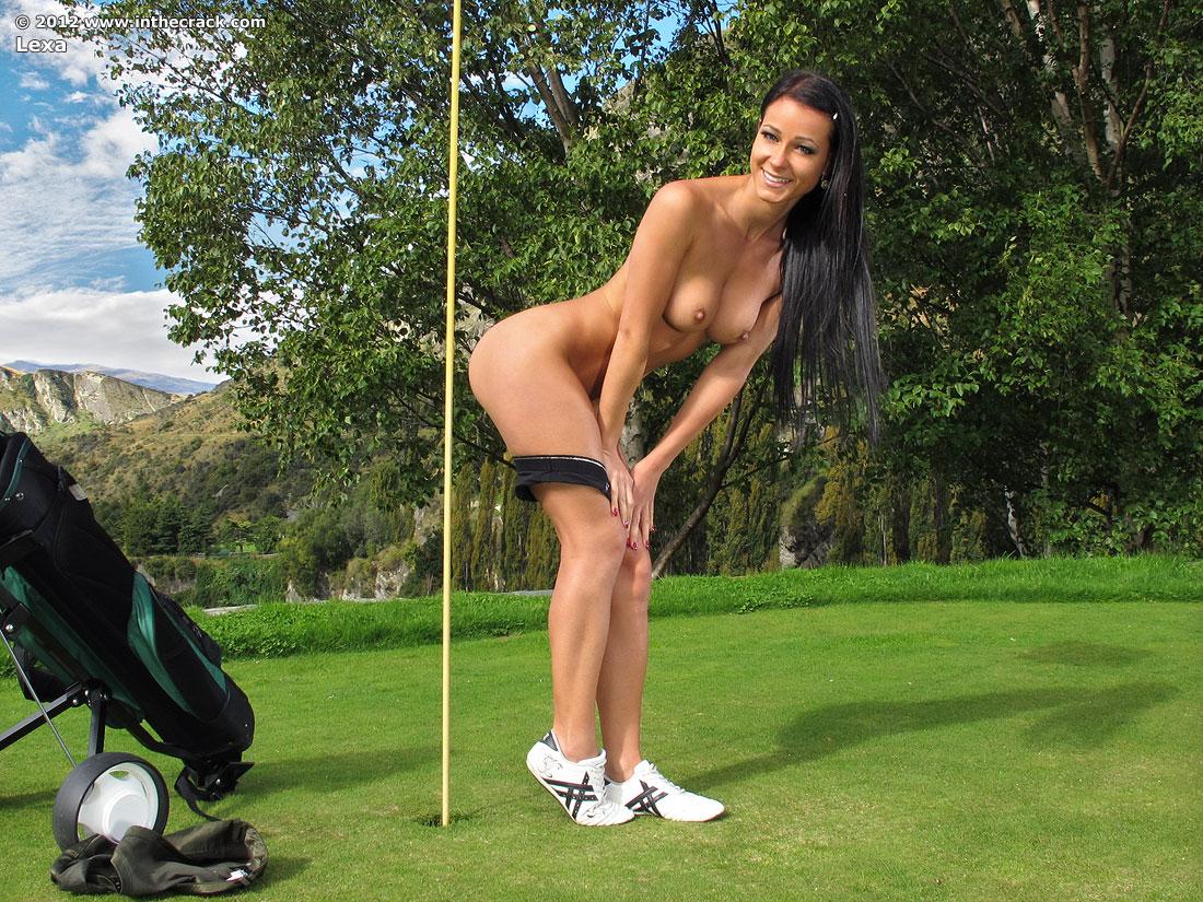 girls playing golf Sexy