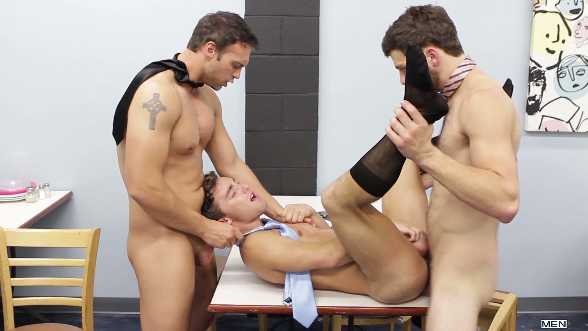 man uniform office Mature gay in