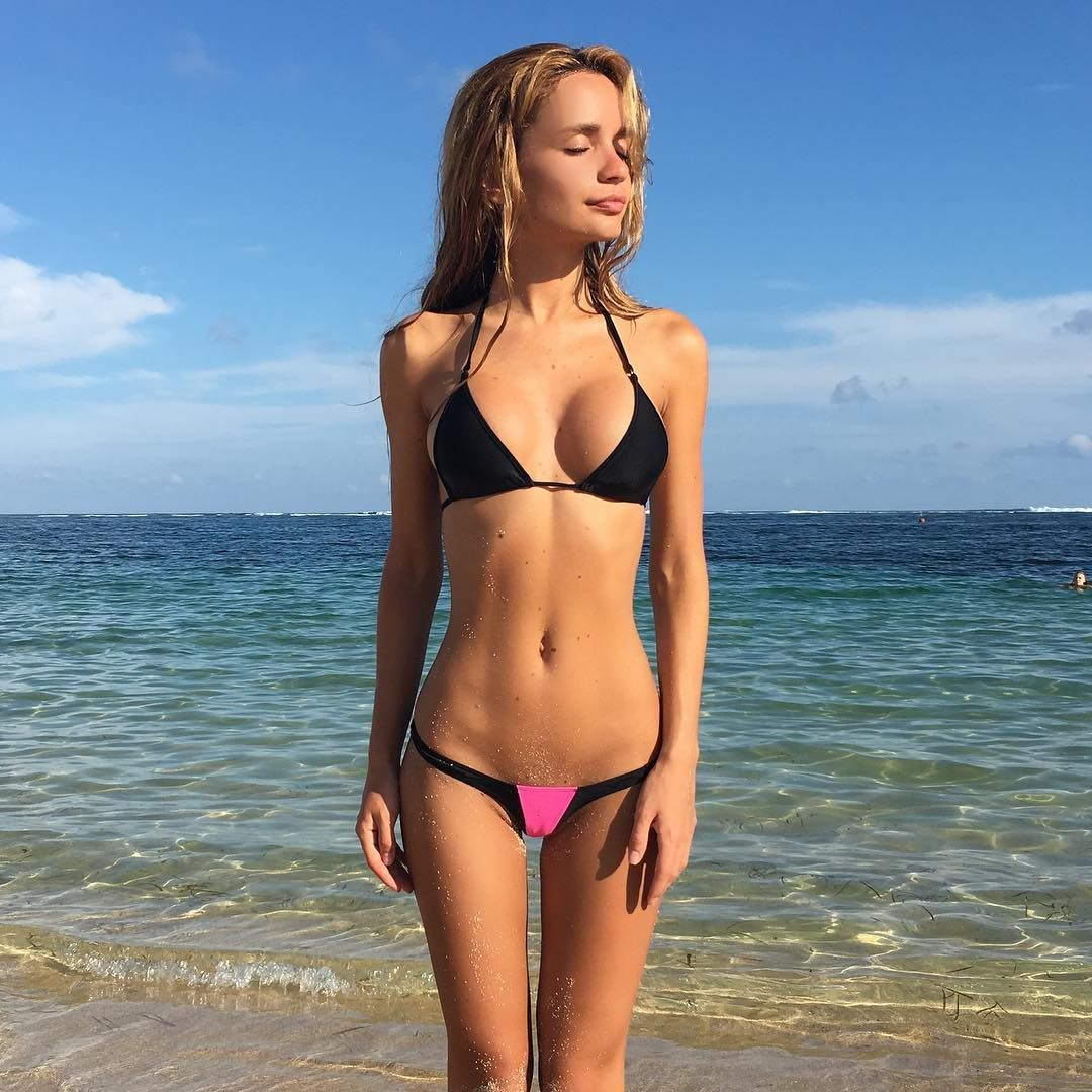 topless Big at beach boobs