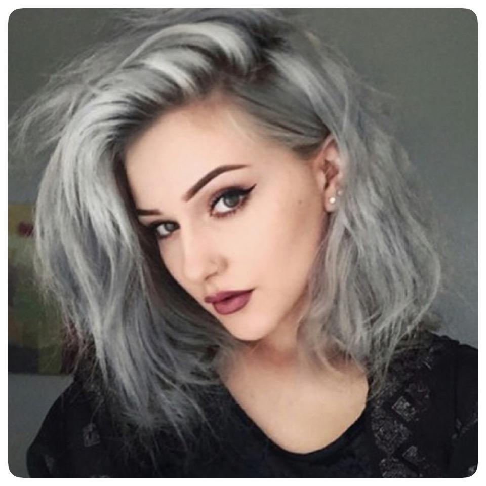 grey hair Silver