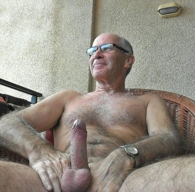 gay grandpa hairy Naked