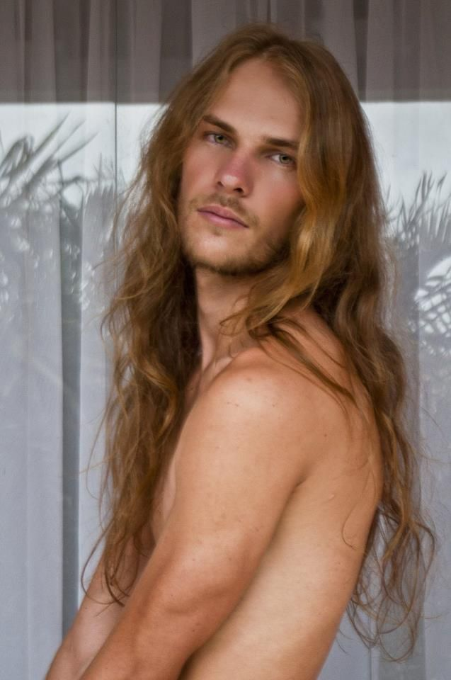 with long men hair Sexy
