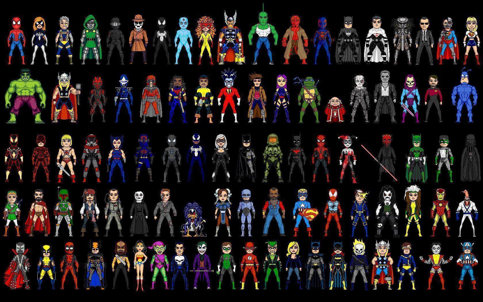 comics characters Dc