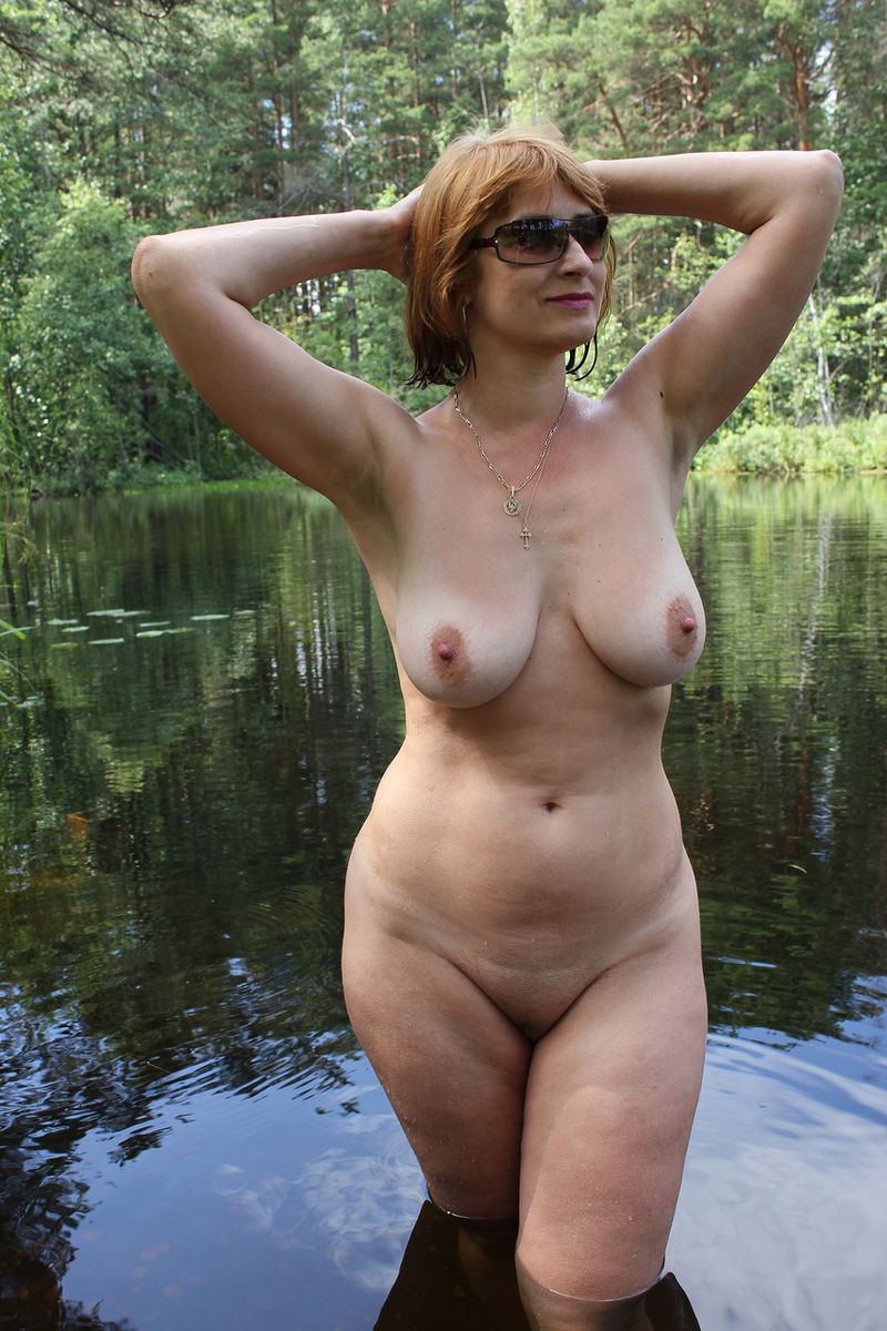 nude sexy moms with son outdoors