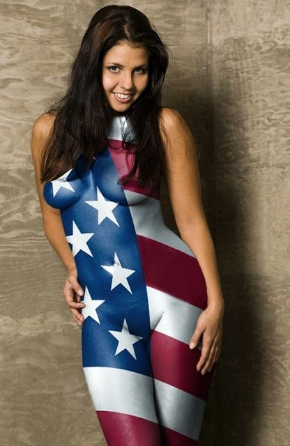 body World girl flag paint