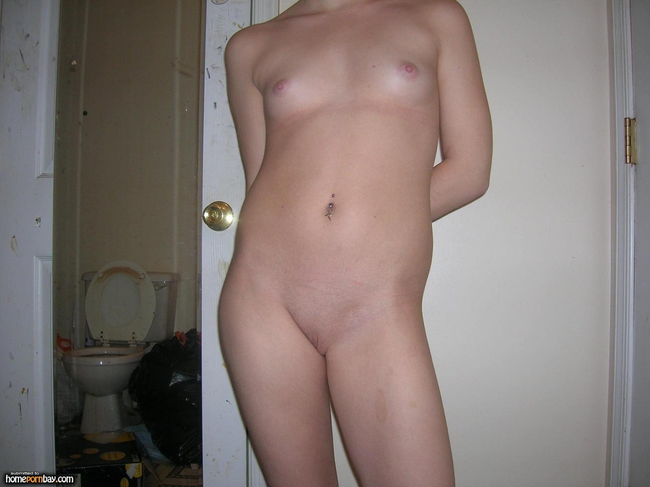 white girls Amateur naked trash