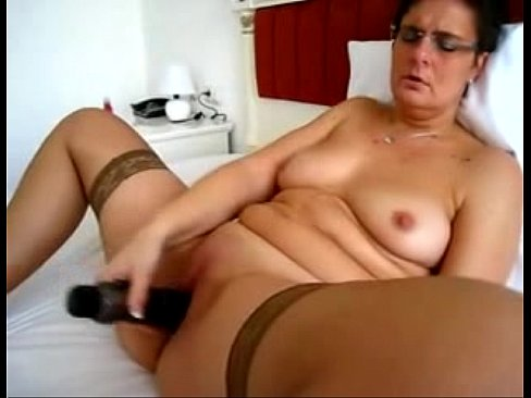 wife masturbating vibrator Mature with